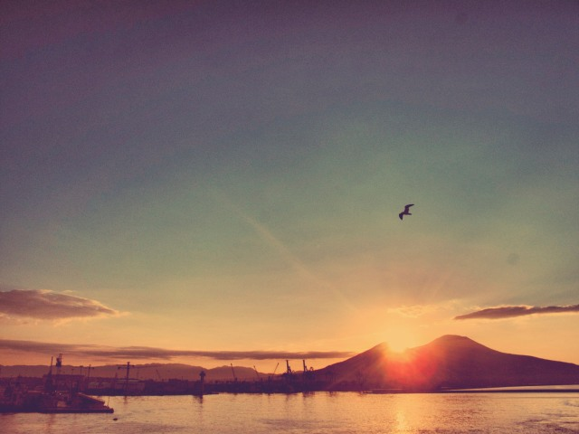 Sunset over Vulcano