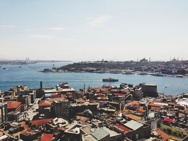 View of the Bospurus from the Galata Tower