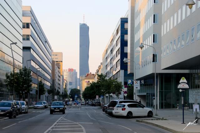 skyscraper, street, architecture